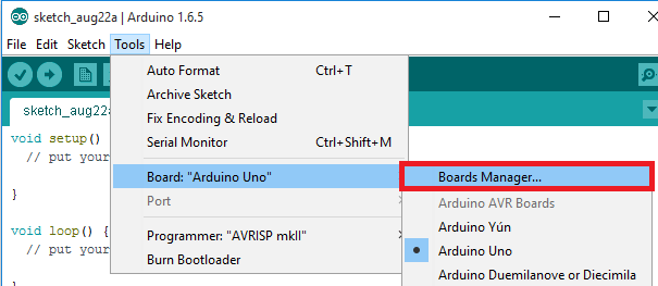 Arduino-IDE-boards-manager