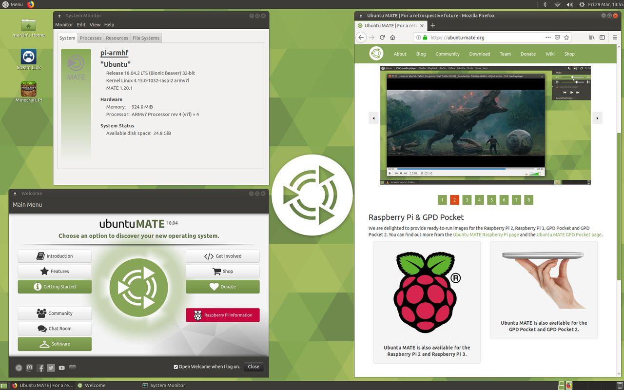 Giao diện Ubuntu Mate