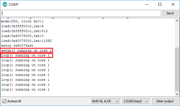 Test code chạy trên core nào
