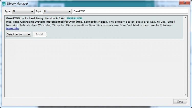 Thêm thư hệ điều hành FreeRTOS trên ESP32