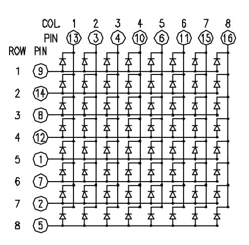 Sơ đồ module led ma trận 8 x 8
