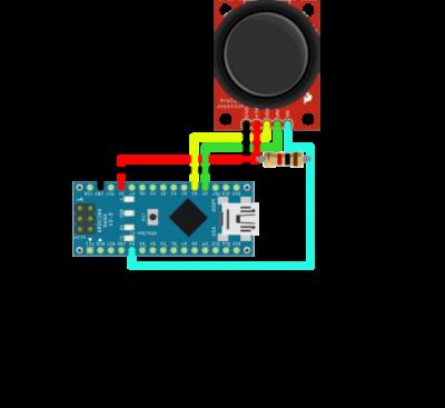 Sơ đồ kết nối Arduino và Joytick