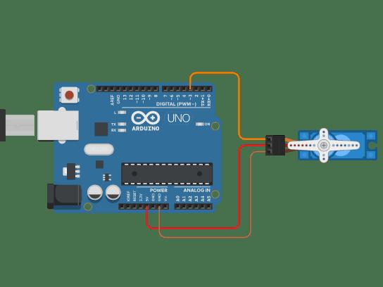 arduino kết nối servo