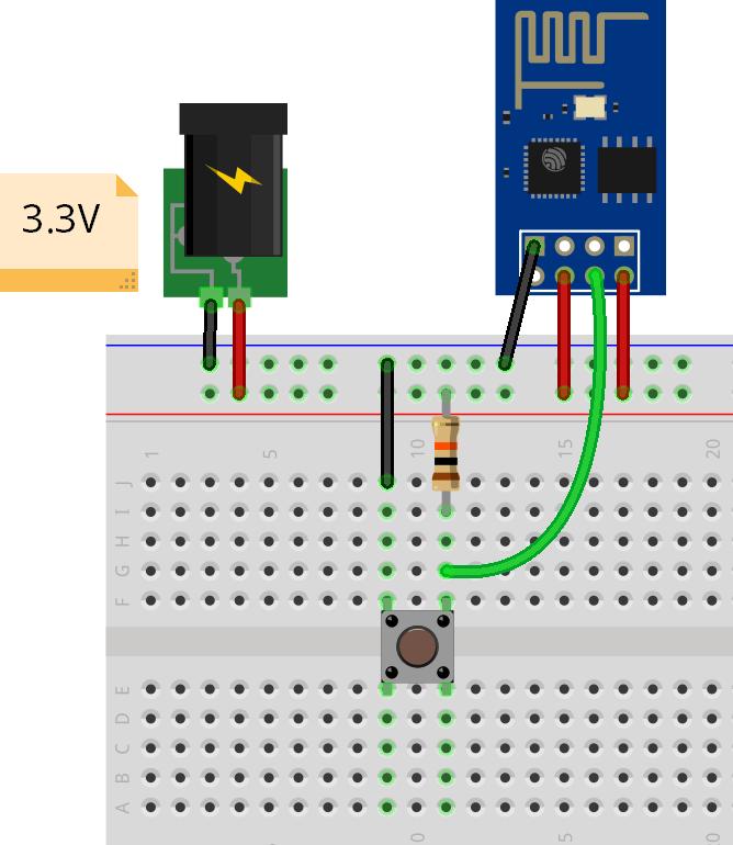 Kết nối nút nhấn và ESP8266